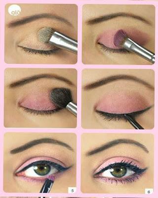 maquillaje de ojos rosado