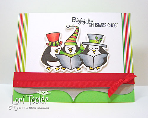 Bringing You Christmas Cheer card-designed by Lori Tecler/Inking Aloud-stamps and dies from The Cat's Pajamas