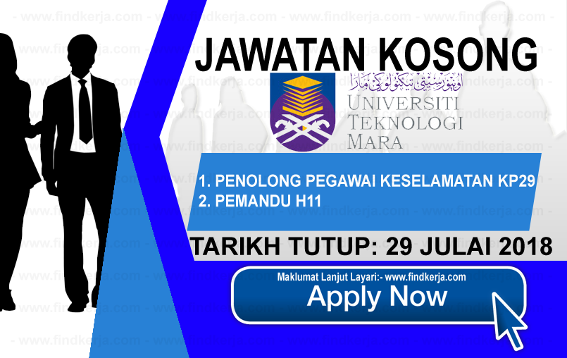 Jawatan Kerja Kosong UiTM - Universiti Teknologi MARA logo www.findkerja.com www.ohjob.info julai 2018