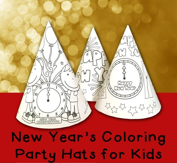 http://www.totschooling.net/2014/12/new-years-coloring-party-hats-printable.html