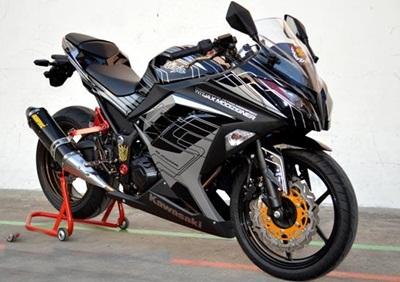 Modifikasi Motor Ninja 4 Tak terbaru 2017