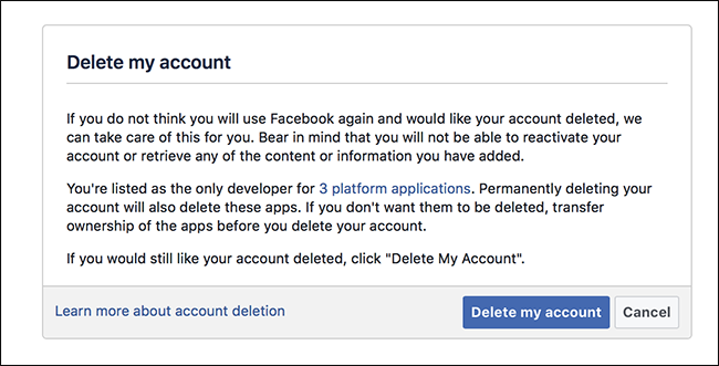 Come eliminare il tuo account Facebook