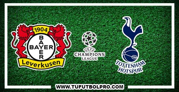Ver Bayer Leverkusen vs Tottenham EN VIVO Gratis Por Internet Hoy 18 de Octubre 2016