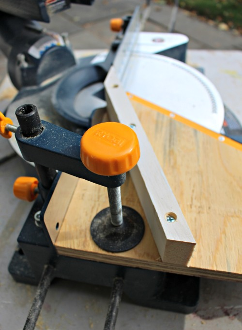attach jig to saw using clamp