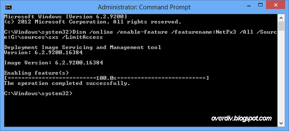 ... Framework 3.5 Offline di Windows 8, Windows 8.1, atau Windows 10 tanpa