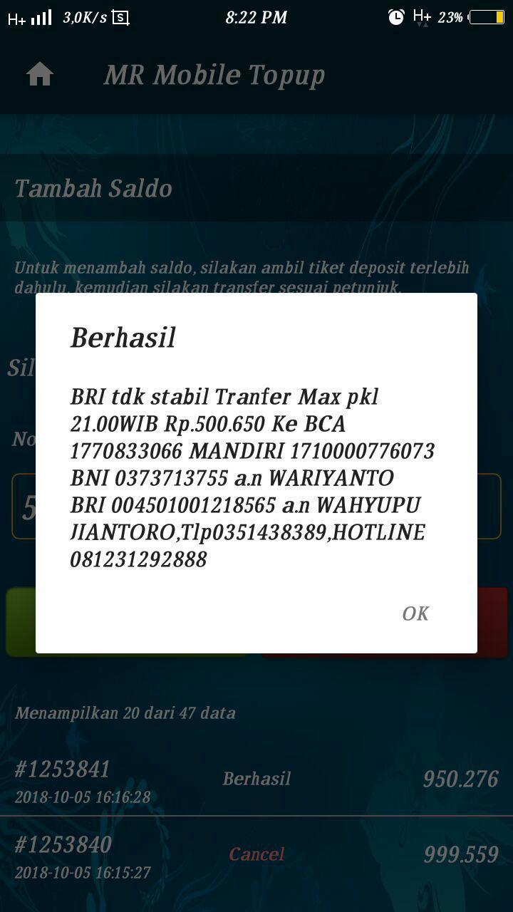 BARU CARA DEPOSIT SALDO VIA TRANSFER BANK MUDAH - RAHMAH ...