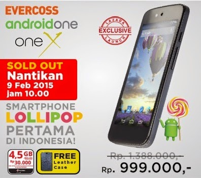 Evercoss One-X Android One Rp 999.000 09022015