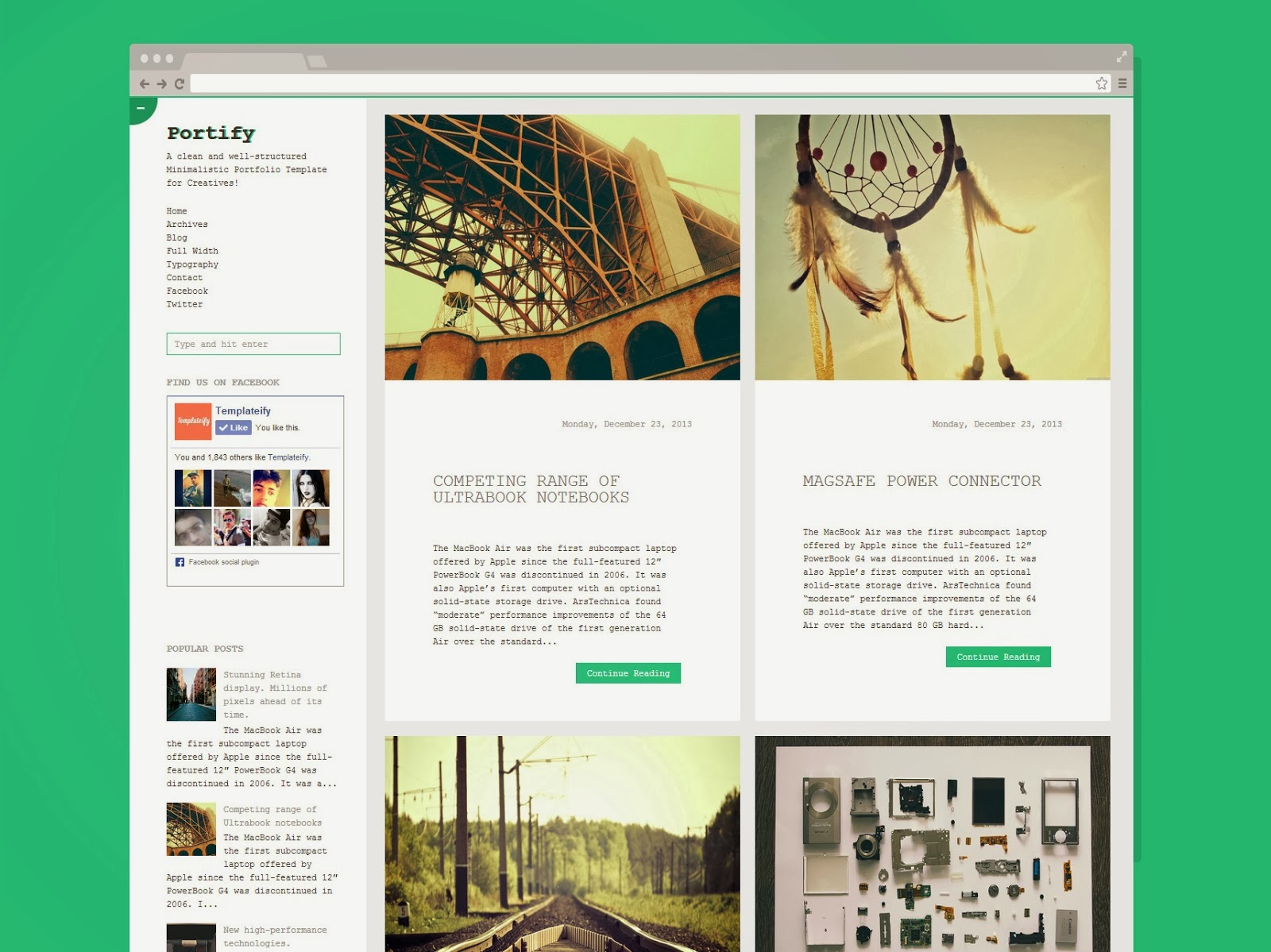 Portify Responsive Blogger Template