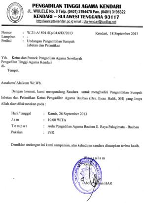 MATERI BAHASA INDONESIA SMP: Menulis Surat Dinas