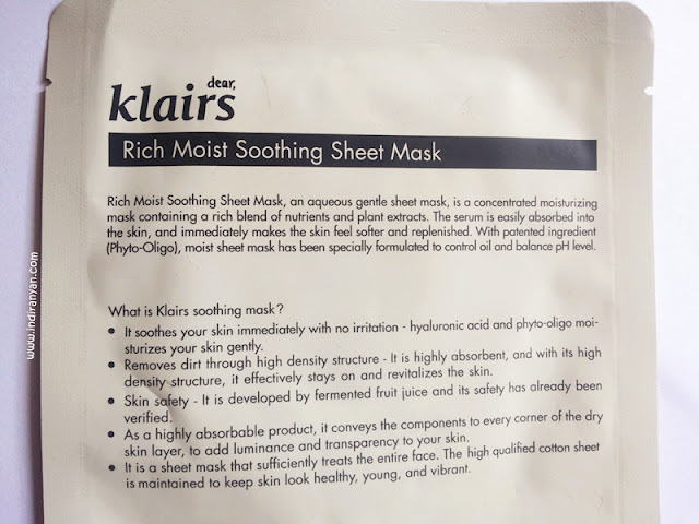 Klairs Rich Soothing Mask