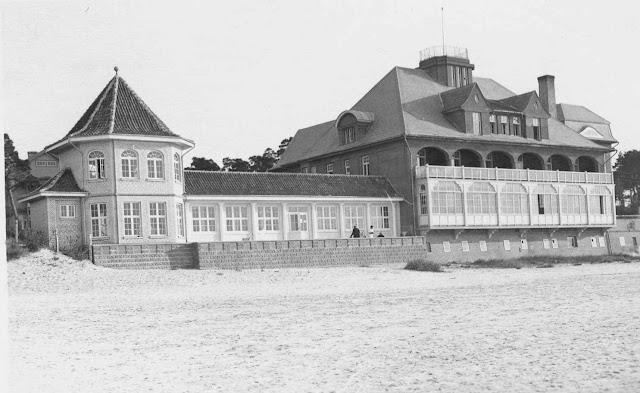 """1930-е годы. Рижское взморье. Санаторий """"Marienbāde"""" (источник фото: Latvijas Nacionālā bibliotēka)"""