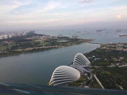 Singapore Marina Sands SkyPark view