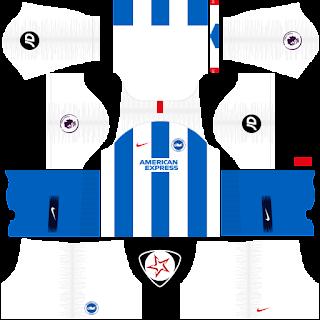 Brighton & Hove Albion FC 2018 - 2019 Home Kit