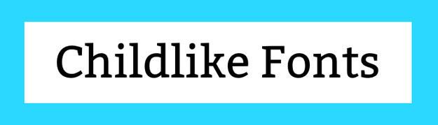 Childlike Fonts Download