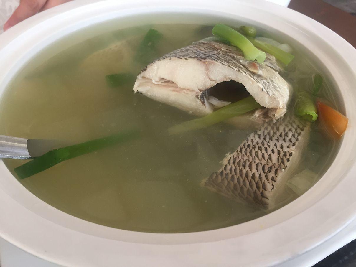 Fish tinola at Anika Island Resort
