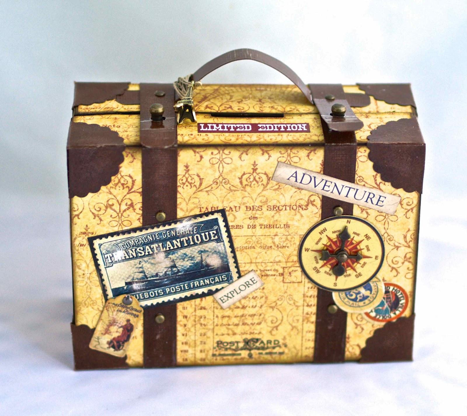 C scara de papel ahorros en la maleta - Como hacer una hucha ...
