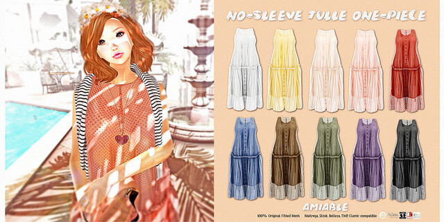 {amiable}No-sleeve tulle one-piece@N°21 February(50%OFF SALE).