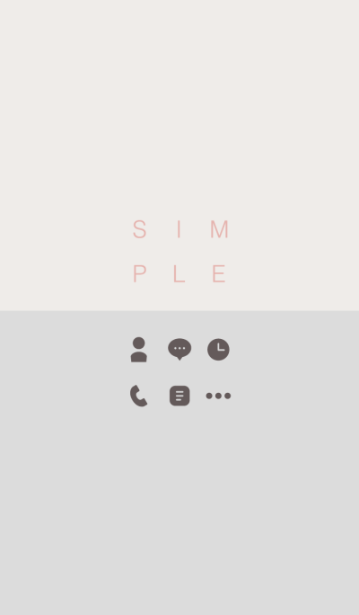 SIMPLE / beige-gray