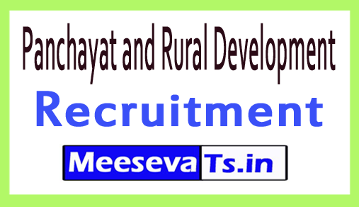 Panchayat and Rural Development PNRD Assam Recruitment