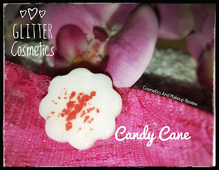 Candy Cane - Glitter Cosmetics Candle