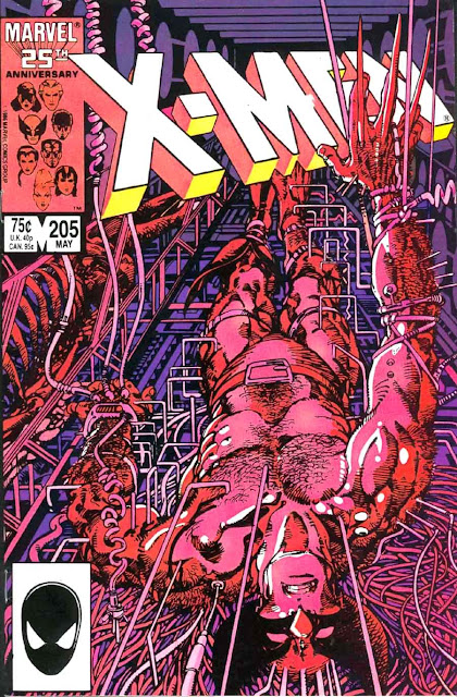 X-men v1 #205 marvel comic book cover art by Barry Windsor Smith