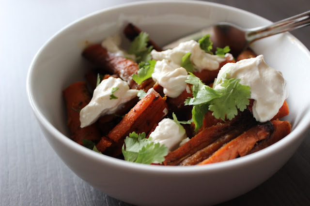 Honey-Roasted Carrots with Tahini Yogurt | A Hoppy Medium