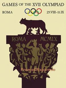 Logo Richiedi in omaggio il manifesto dell' Olimpiade di Roma 1960