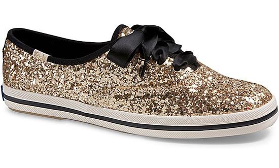 Gold Keds Shoe