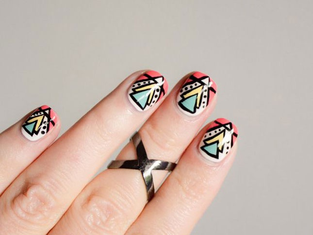 Tribal Nail Art Trend Quirky Nail Art For All Nails,Clip Art Simple Flower Design Black And White