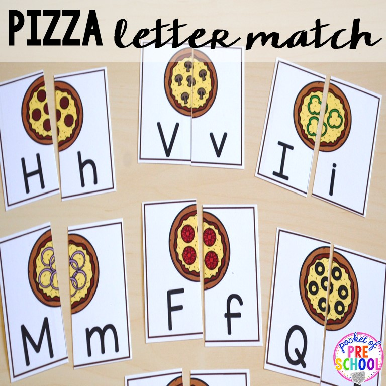 Free Worksheets letter b sound worksheets : Pizza themed centers for preschool, pre-k, and kindergarten