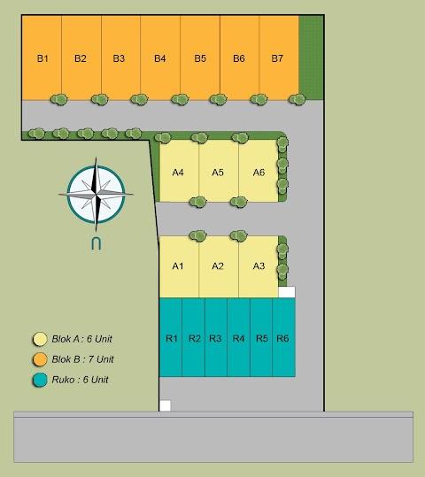 Site Plan Perumahan Minimalis (seri 4) Hub 0823.3333.9949