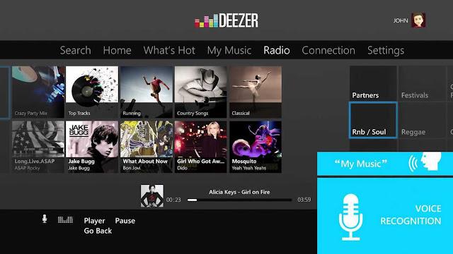 Streaming musik Deezer tiba di Xbox One 5