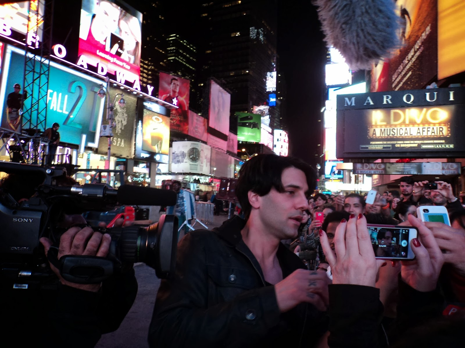 Criss Angel na Times Square