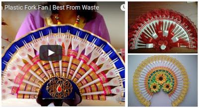 abanicos-reciclando-tenedores-plástico