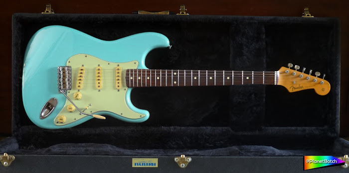 Fender MIJ Aged Parts Stratocaster in Sonic Blue
