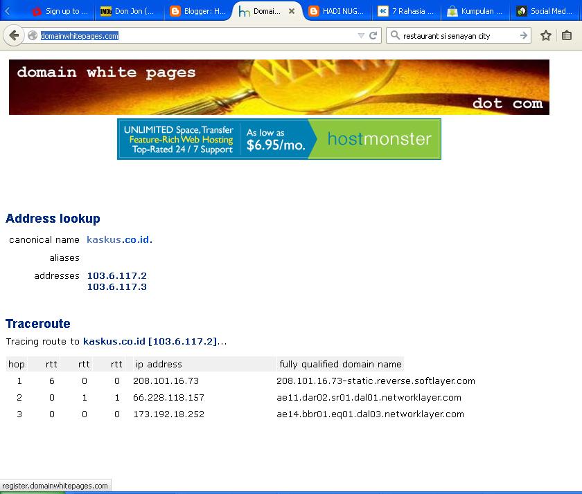 hadi nugroho blogs domainwhitepages com cara mengecek domain yang sudah aktif bagian 2