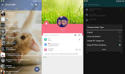 Updated BBM Mod Delta 2.11.0.18 Apk Version with Avatar
