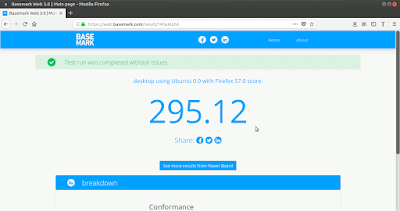 BaseMark Web 3.0 Firefox acelerado