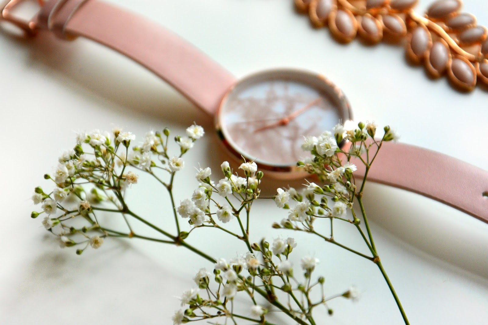 Fresh Flowers, Asos Watch, Primark Necklace