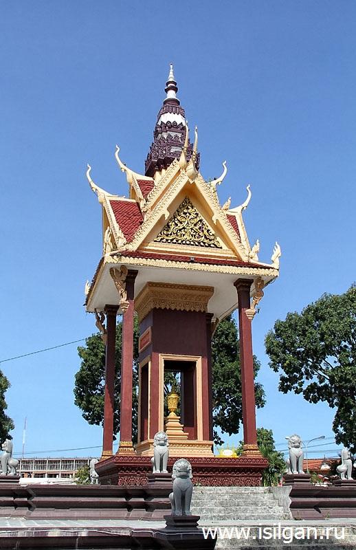 Площадь Независимости. Город Сиануквиль. Камбоджа
