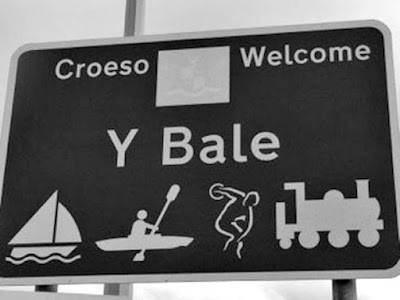 The new sign at Bala showing the change of name to Bale