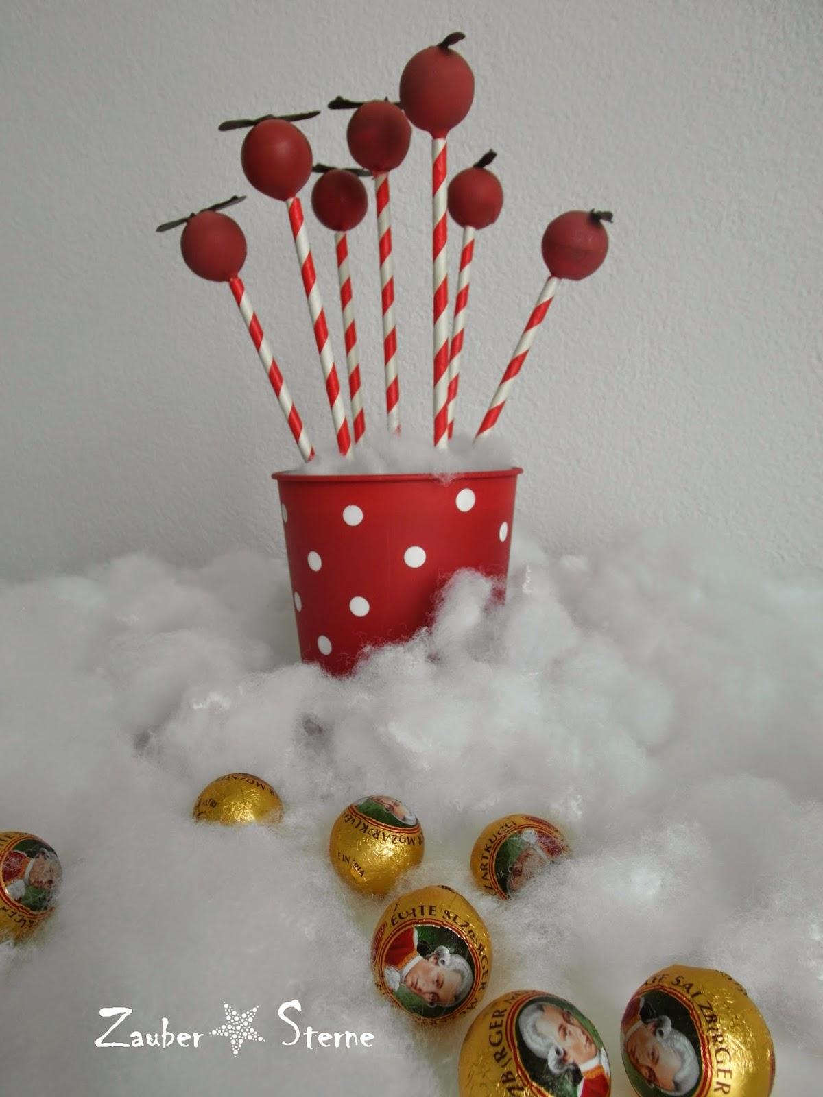 Cakepops mit Mozartkugeln