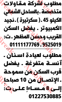 وظائف وسيط الاسكندرية -سكرتيرة
