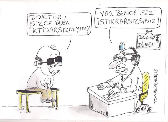 istikrarsızlık karikatürü