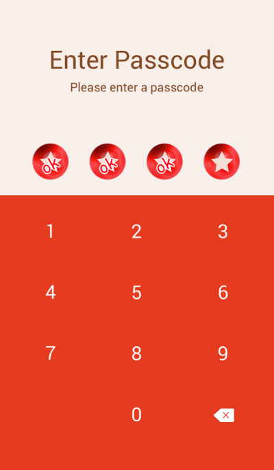 Red star button