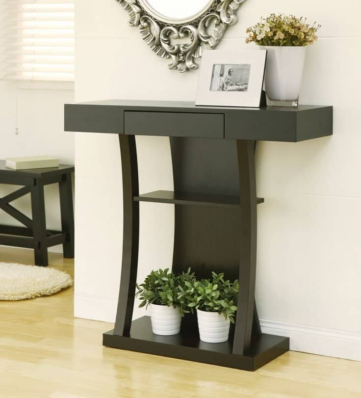 Contemporary Foyer Furniture: +40 Modern Console Table Design Ideas With Mirror 2019