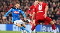 ليفربول ينجو من الخساره من امام نابولي بالتعادل الاجابي بهدف لمثله في دوري أبطال أوروبا
