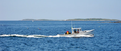 Maine coast lobster boat