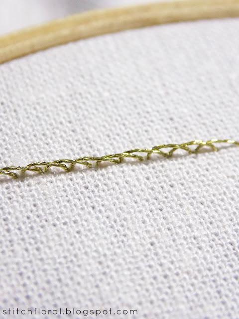 Metallic thread tips: DMC Diamant