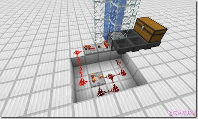Minecraft Redstone Circuit 水流式アイテムエレベーター クロック回路